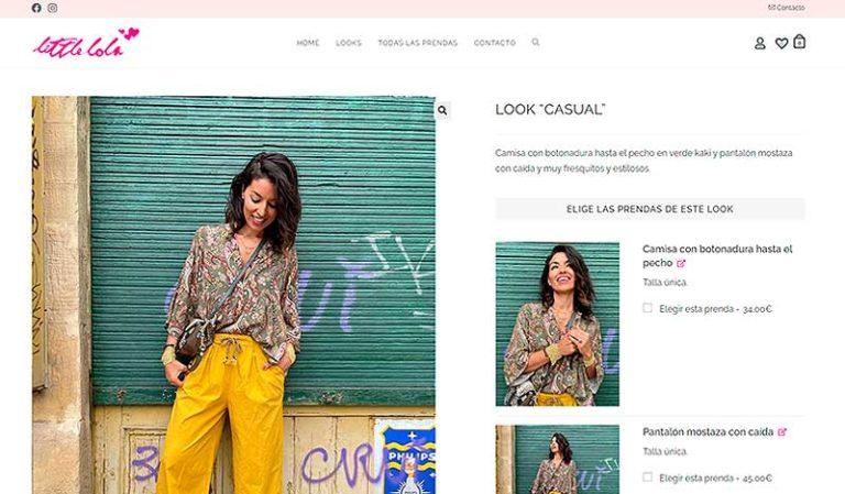 Diseño web ejemplos - littlelola.es